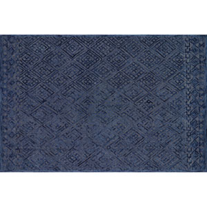 Crafted by Loloi Glendale Navy Rectangle: 3 Ft. 6 In. x 5 Ft. 6 In. Rug