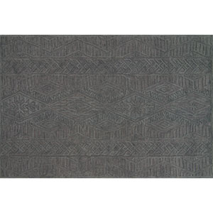 Crafted by Loloi Glendale Grey Rectangle: 7 Ft. 9 In. x 9 Ft. 9 In. Rug
