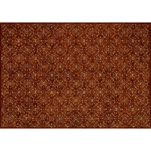 Crafted by Loloi Glendale Rust Rectangle: 3 Ft. 6 In. x 5 Ft. 6 In. Rug