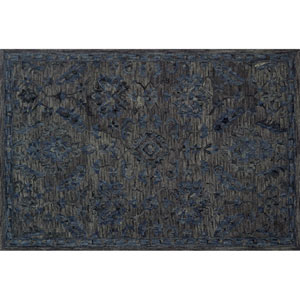 Crafted by Loloi Hawthorne Indigo Round: 7 Ft. 9 In. x 7 Ft. 9 In. Rug