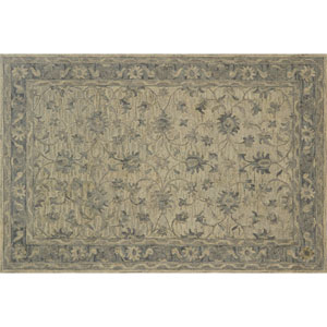 Crafted by Loloi Hawthorne Grey Round: 7 Ft. 9 In. x 7 Ft. 9 In. Rug