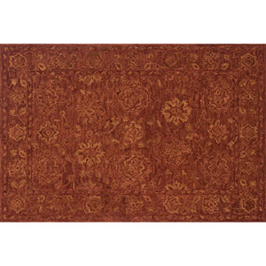Crafted by Loloi Hawthorne Rust Rectangle: 3 Ft. 6 In. x 5 Ft. 6 In. Rug