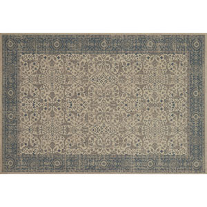 Crafted by Loloi Huntington Ivory Slate Rectangle: 5 Ft. 3 In. x 7 Ft. 6 In. Rug