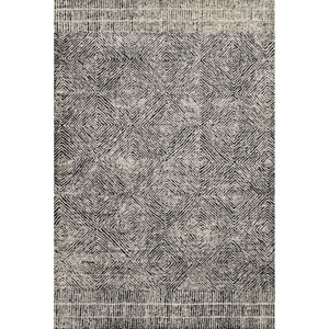 Crafted by Loloi Kopa Black Ivory Rectangle: 3 Ft. 6 In. x 5 Ft. 6 In. Rug