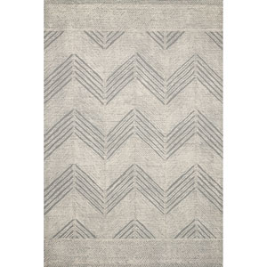 Crafted by Loloi Kopa Grey Ivory Runner: 2 Ft. 6 In. x 7 Ft. 6 In.