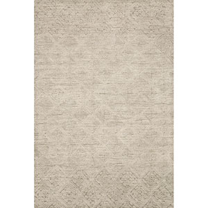 Crafted by Loloi Kopa Taupe Ivory Rectangle: 3 Ft. 6 In. x 5 Ft. 6 In. Rug