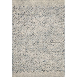 Crafted by Loloi Kopa Blue Ivory Rectangle: 3 Ft. 6 In. x 5 Ft. 6 In. Rug