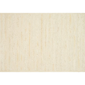 Crafted by Loloi Ludlow Ivory Rectangle: 7 Ft. 9 In. x 9 Ft. 9 In. Rug
