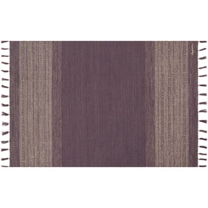 Crafted by Loloi Solano Eggplant Runner: 2 Ft. 3 In. x 7 Ft. 9 In.