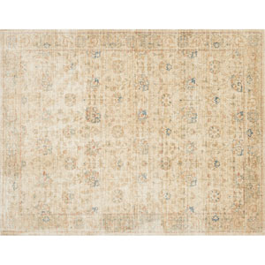 Crafted by Loloi Trousdale Sand Multicolor Round: 5 Ft. 7 In. x 5 Ft. 7 In. Rug