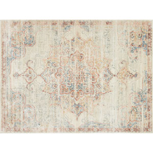 Crafted by Loloi Trousdale Ivory Red Rectangle: 5 Ft. x 7 Ft. 5 In. Rug