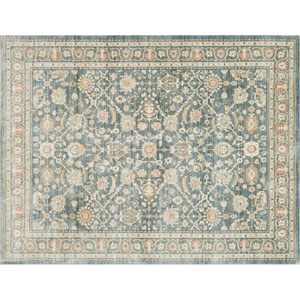 Crafted by Loloi Trousdale Blue Round: 5 Ft. 7 In. x 5 Ft. 7 In. Rug