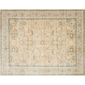 Crafted by Loloi Trousdale Desert Blue Round: 5 Ft. 7 In. x 5 Ft. 7 In. Rug