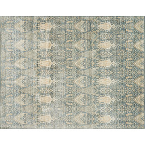 Crafted by Loloi Trousdale Blue Sand Round: 5 Ft. 7 In. x 5 Ft. 7 In. Rug