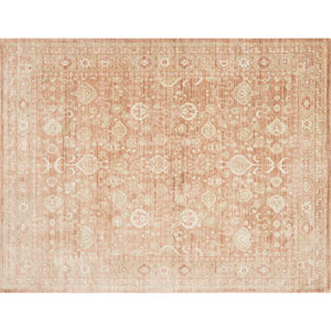 Crafted by Loloi Trousdale Rust Round: 5 Ft. 7 In. x 5 Ft. 7 In. Rug