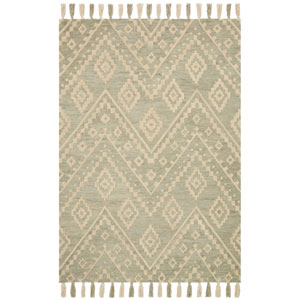 Crafted by Loloi Zagora Seafoam Green Runner: 2 Ft. 6 In. x 7 Ft. 6 In.