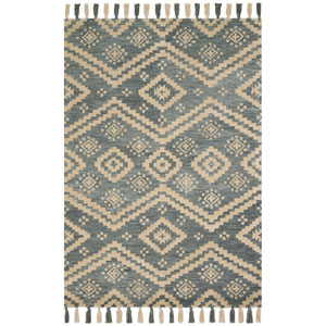 Crafted by Loloi Zagora Denim Rectangle: 3 Ft. 6 In. x 5 Ft. 6 In. Rug