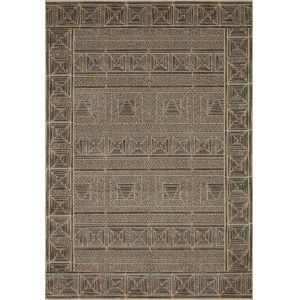 Chalos Charcoal and Natural 9 Ft. 6 In. x 12 Ft. 6 In. Area Rug