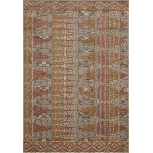Chalos Natural and Sunset 6 Ft. 7 In. x 9 Ft. 7 In. Area Rug