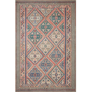 Malik Rose and Blue 8 Ft. 4 In. x 11 Ft. 6 In. Area Rug
