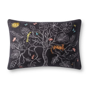 Justina Blakeney Black 16 x 26-Inch Pillow