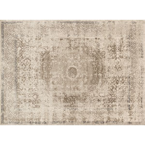 Century Taupe and Sand Rectangular: 2 Ft 7 In x 4 Ft Rug