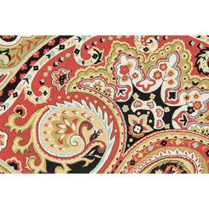 Francesca Red and Black Rectangular: 2 Ft 3 In x 3 Ft 9 In Rug