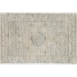 Nyla Beige and Blue Rectangular: 7 Ft 6 In x 10 Ft 5 In Rug