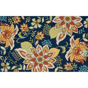 Francesca Blue Floral Rectangular: 2 Ft 3 In x 3 Ft 9 In Rug