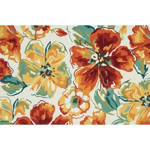 Summerton Ivory Floral Rectangular: 5 Ft x 7 Ft 6 In Rug