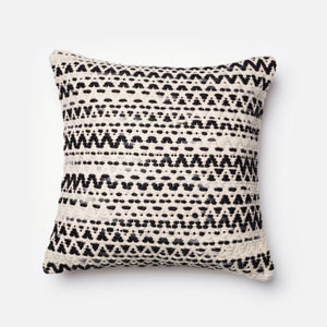 Grey 22-Inch Decorative Pillow with Poly Insert
