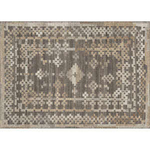 Akina Charcoal and Taupe Rectangular: 3 Ft 6 In x 5 Ft 6 In Rug