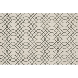 Panache Ivory and Grey Rectangular: 2 Ft 3 In x 3 Ft 9 In Rug