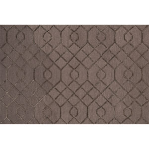 Panache Raisin and Coffee Rectangular: 2 Ft 3 In x 3 Ft 9 In Rug