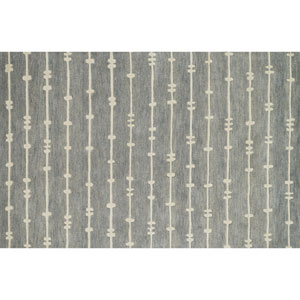 Nova Grey and Ivory Rectangular: 3 Ft 6 In x 5 Ft 6 In Rug