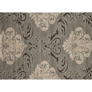 Enchant Smoke and Beige Rectangular: 2 Ft 3 In x 3 Ft 9 In Rug
