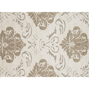 Enchant Ivory and Beige Rectangular: 2 Ft 3 In x 3 Ft 9 In Rug