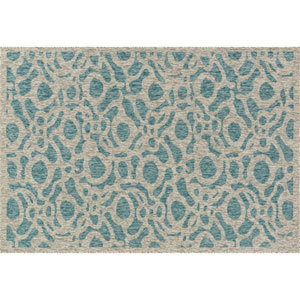 Newport Aqua and Grey Rectangular: 2 Ft 2 In x 3 Ft 9 In Rug