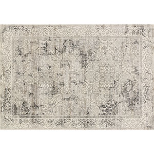 Kingston Ivory and Grey Rectangular: 2 Ft 7 In x 3 Ft 9 In Rug