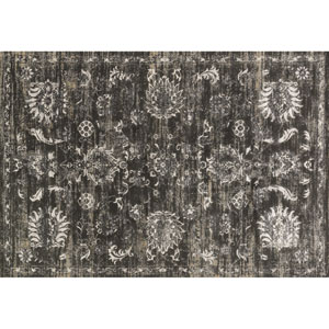 Kingston Charcoal and Silver Rectangular: 2 Ft 7 In x 3 Ft 9 In Rug