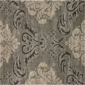 Enchant Smoke and Beige Square: 7 Ft 7 In Rug