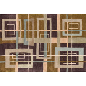 Abacus Mocha Rectangular: 5 Ft x 7 Ft 6 In Rug
