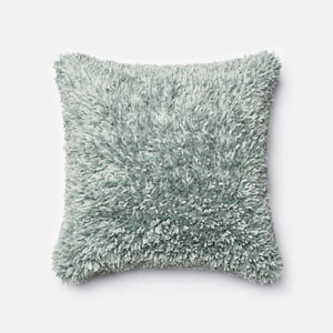 Light Blue 22-Inch Decorative Pillow with Poly Insert