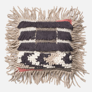Multicolor 18-Inch Decorative Pillow with Down Insert