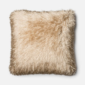 Gold 22-Inch Decorative Pillow with Down Insert