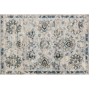 Torrance Grey and Navy Rectangular: 9 Ft 3 In x 13 Ft Rug