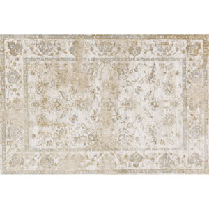 Torrance Ivory and Ivory Rectangular: 3 Ft 9 In x 5 Ft 9 In Rug