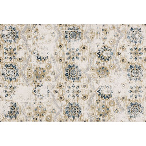 Torrance Ivory and Multicolor Rectangular: 3 Ft 9 In x 5 Ft 9 In Rug
