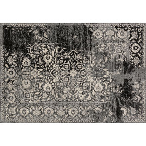 Emory Black and Ivory Rectangular: 3 Ft 10 In x 5 Ft 7 In Rug