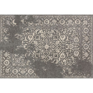 Emory Charcoal and Ivory Rectangular: 3 Ft 10 In x 5 Ft 7 In Rug